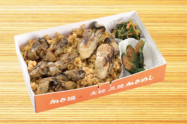 Oyster fortune Sanriku large rice boiled with oysters